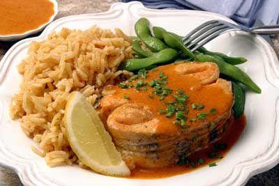 Grilled Salmon Panang Recipe — Dishmaps