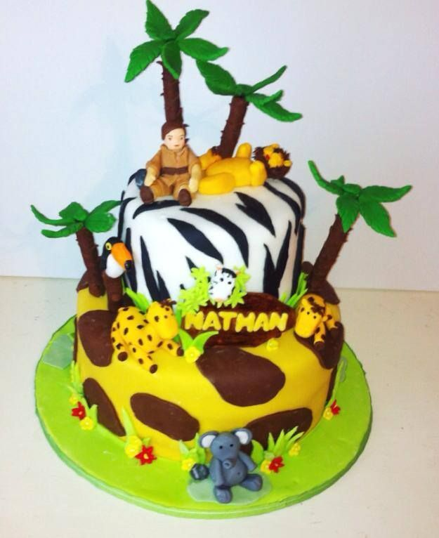 Safari Baby Shower Cake by D'lish Cupcake Lounge - Houston, TX