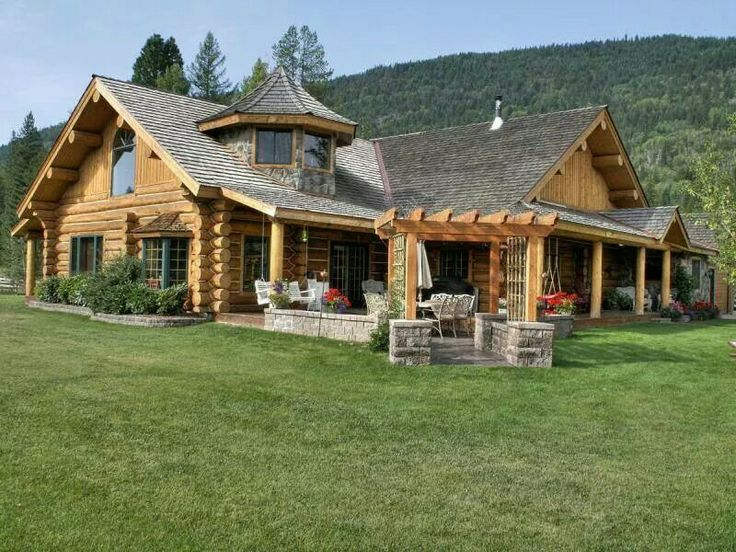 Log Stone Log Homes Pinterest