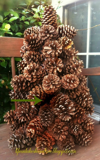 Pine cone tree tutorial lots of pine cones need something to do with