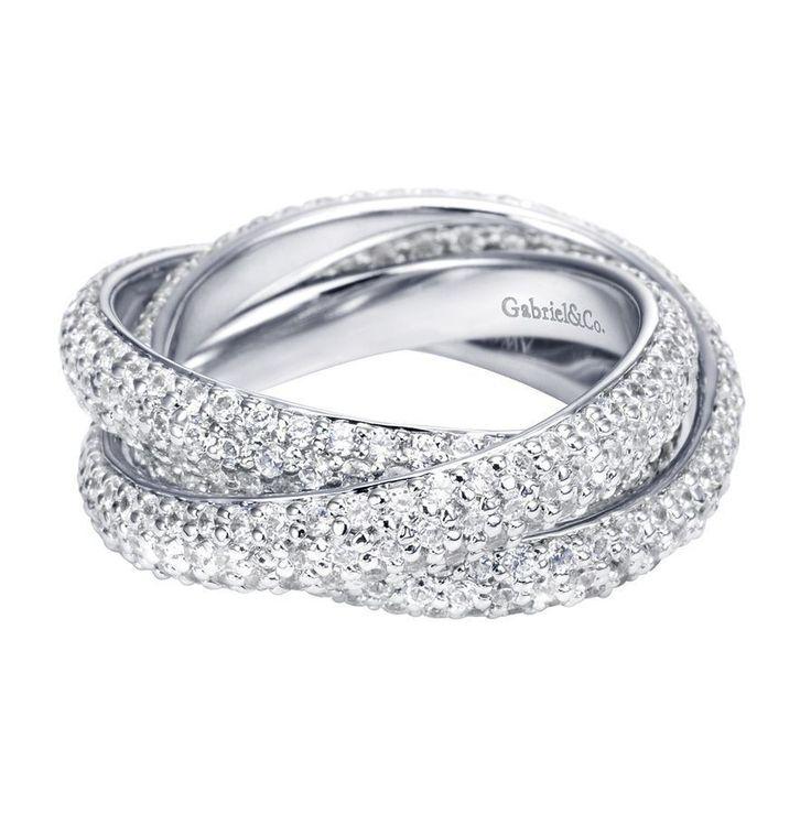 diamond criss cross eternity band wedding day pinterest