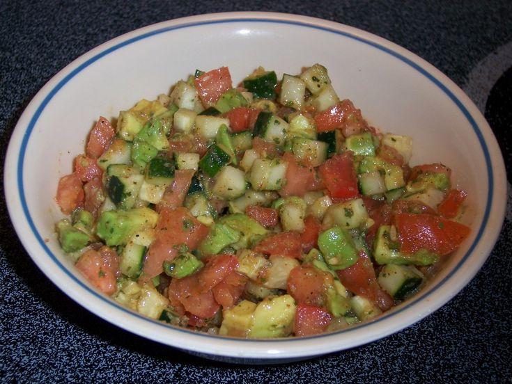 Tomato Cucumber & Avocado Salsa | Food | Pinterest