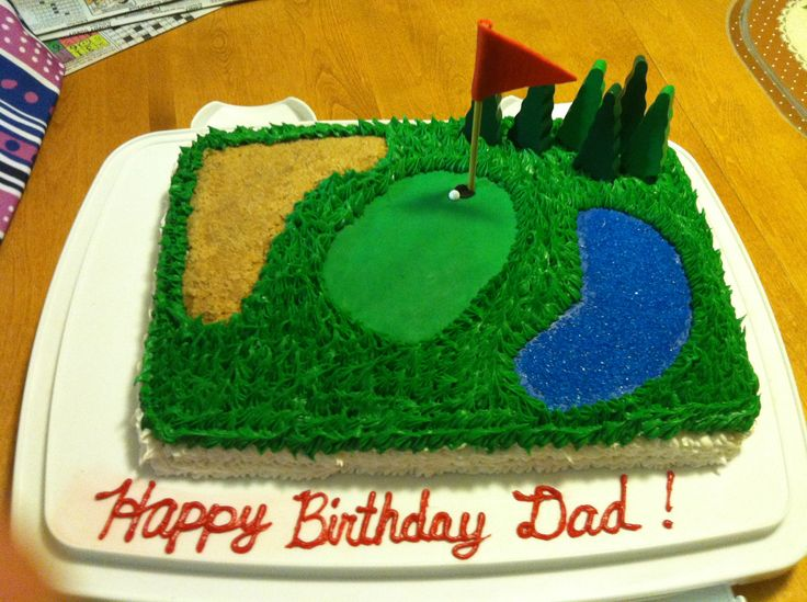 Golf Cake for dads birthday!  Cakes & creations Ive made  Pin...