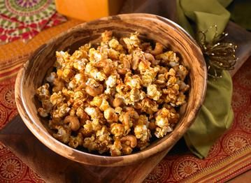 Coconut Curry Cashew Popcorn | Tailgate time | Pinterest