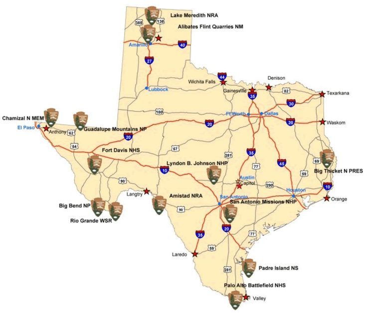 Texas State Parks Map  TeXAs That39s Where I Come From
