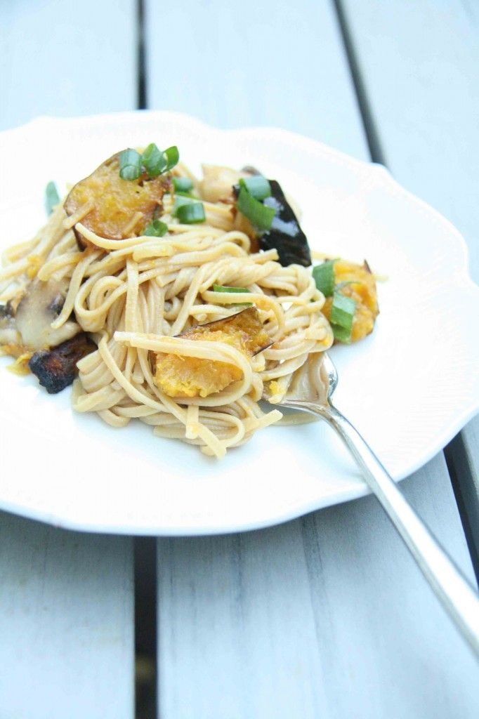 Stir Fried Pumpkin & Ginger Rice Noodles with Acorn Squash and ...