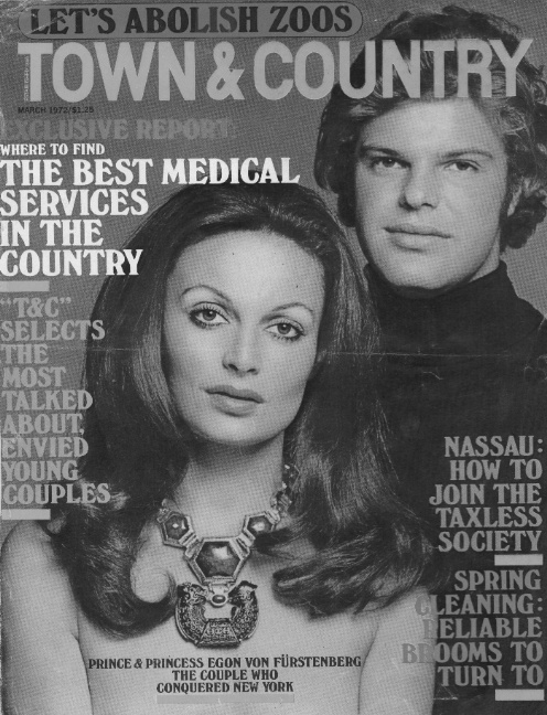 DVF | 1972: Diane and Egon on the cover of Town & Country