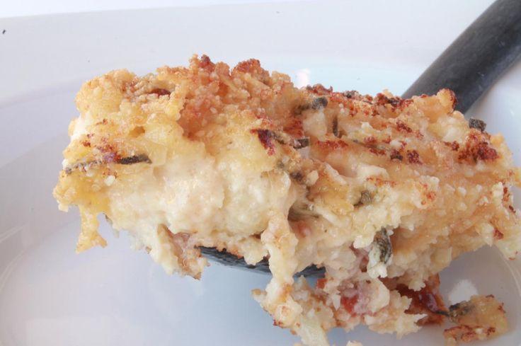 "Bacon-Sage Cauliflower ""Au Gratin"" / @DJ Foodie / DJFoodie.com"