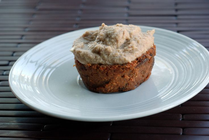 Raw Carrot Cake Cupcakes with Cashew Frosting