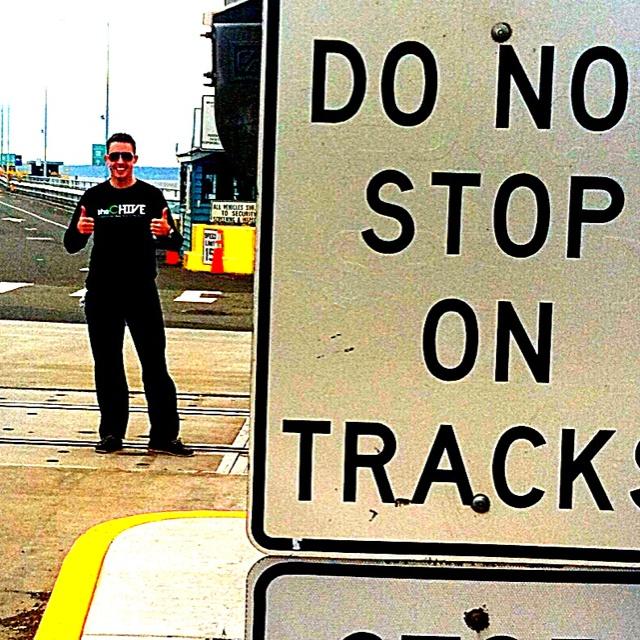 Do not stop on tracks... Rebel