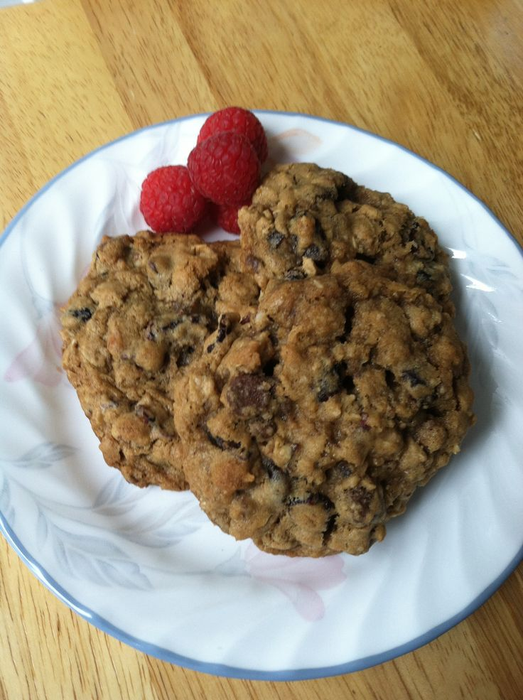 ... Cherries, Chocolate Chips, Pecans & Oatmeal. There dense but tender