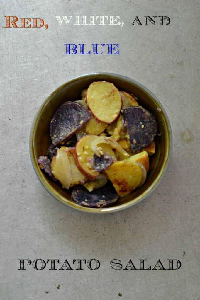 ... red, white, and blue potato salad is the perfect patriotic side dish