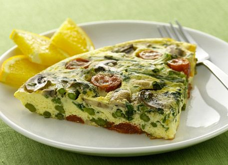 Asparagus, Mushroom and Swiss Frittata | recipes | Pinterest