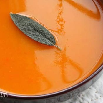Butternut Squash Soup with Sage | food and drink | Pinterest