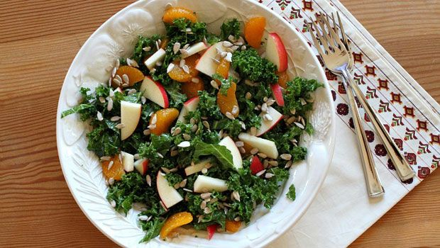 Marinated Kale Salad with Apples and Oranges | Recipe