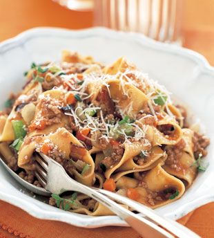 Pappardelle Bolognese: Recipe: bonappetit.com. I've made this many ...