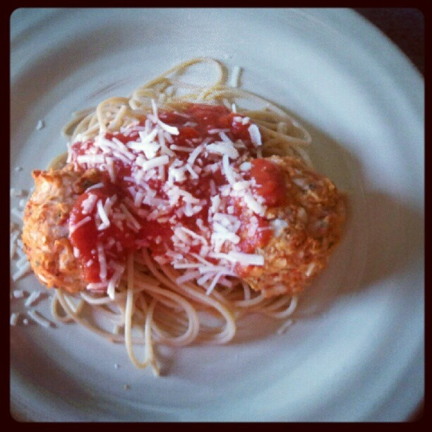"""dinner: cannellini bean vegetarian """"Meatballs"""" with tomato sauce ..."""