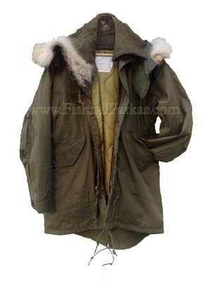 Mini Fishtail Parka, made from vintage unissued M-65 Fishtail Parka stock and reduced to size for those who aren't huge lumbering soldiers. £279.97