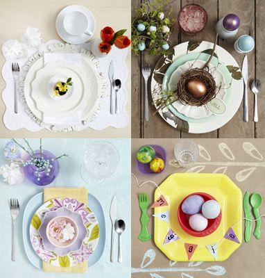 Décoration de table  Pâques  Pinterest