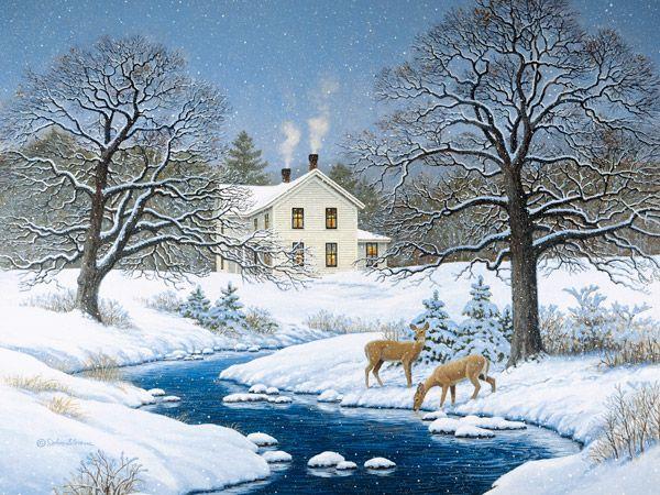 Silent Snow JohnSloaneArt.com - John Sloane - Gallery - Wildlife