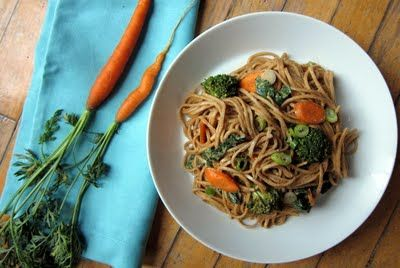 Used this recipe for spicy peanut sauce tonight. With Mai fun noodles ...