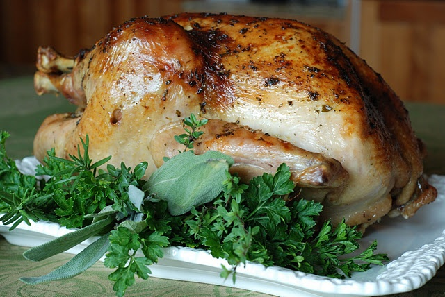 Roast Turkey with Apple Cider Gravy. SO GOOD! Work all the work of ...