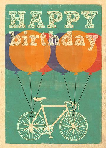 Поздравление с днём рождения для велосипедиста