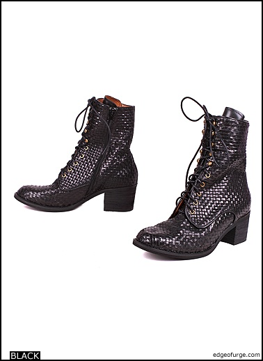 Ross Woven Boots by Jeffrey Campbell #edgeofurge