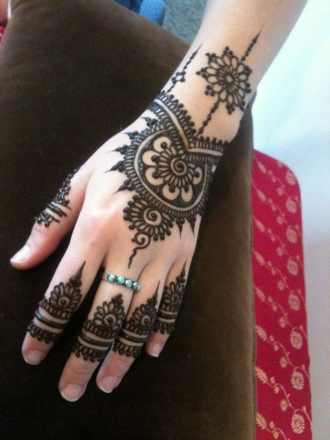 Back Hand Side Henna Design - 4