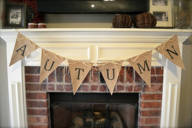 Autumn Fireplace Penant Banner: Tutorial