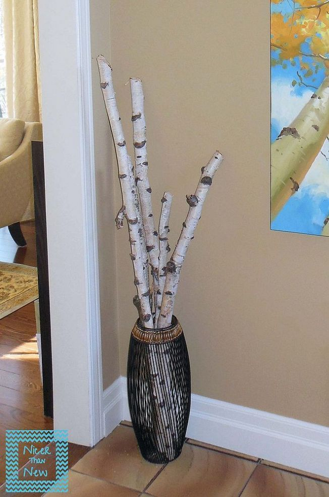 Birch branch decor ideas for Tree twigs decoration