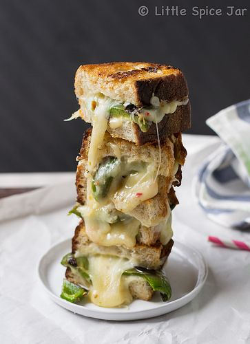 Garlic and Jalapeno Pepper Jack Grilled Cheese Sandwich Tower 5 by ...