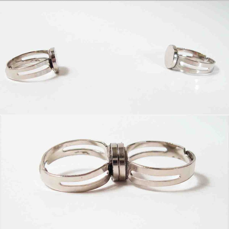 Wonder Twins magnet rings. $44.95, via Etsy.