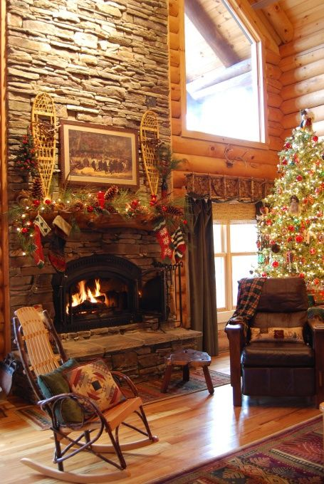 33 Cute Log Cabin Christmas Decorations Christmas