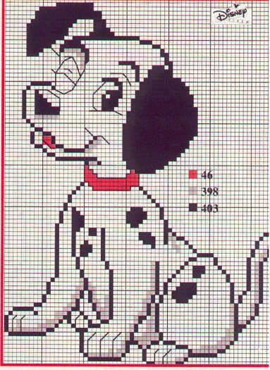 Схемы вышивки крестом щенок далматинца 55