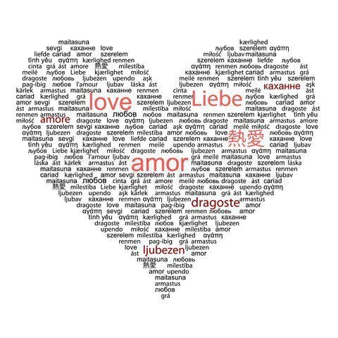 how to say love in every language