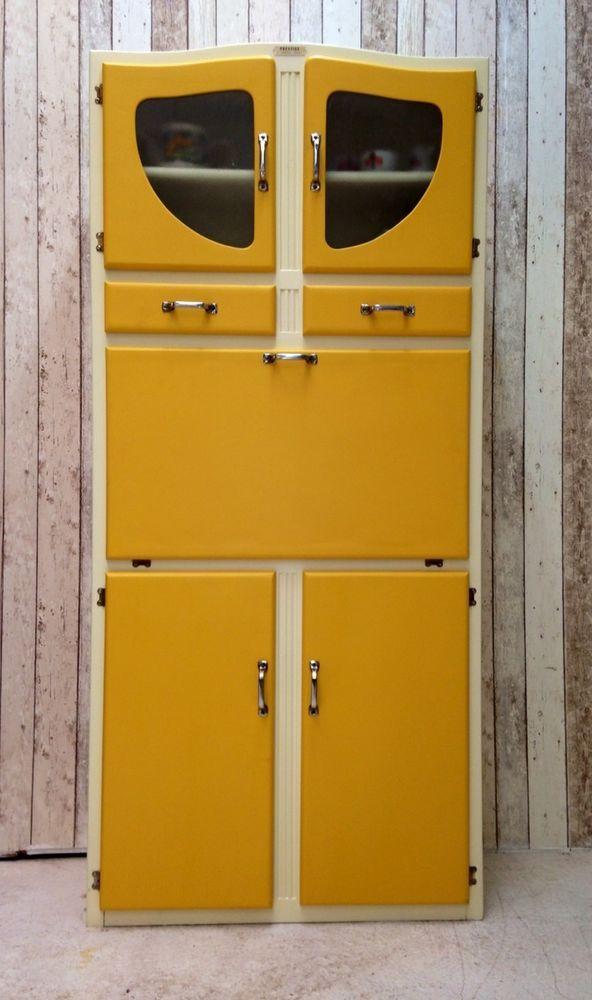 vintage retro kitchen cabinet cupboard larder kitchenette 50s 60s mid