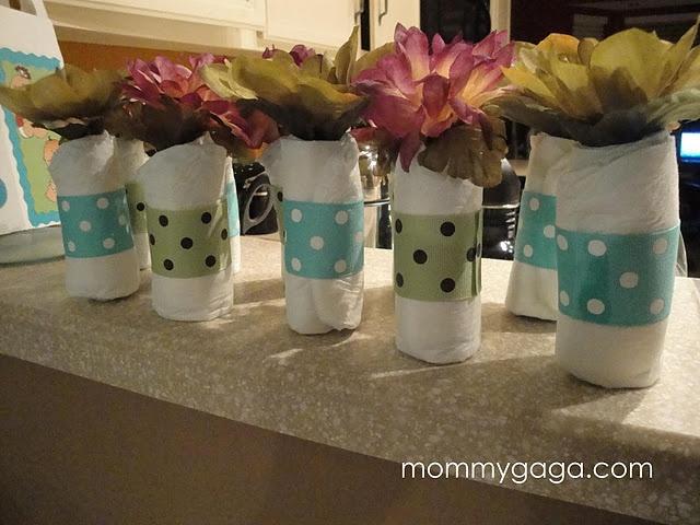 homemade baby shower centerpiece ideas