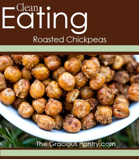 Clean Eating Roasted Chickpeas | Recipe