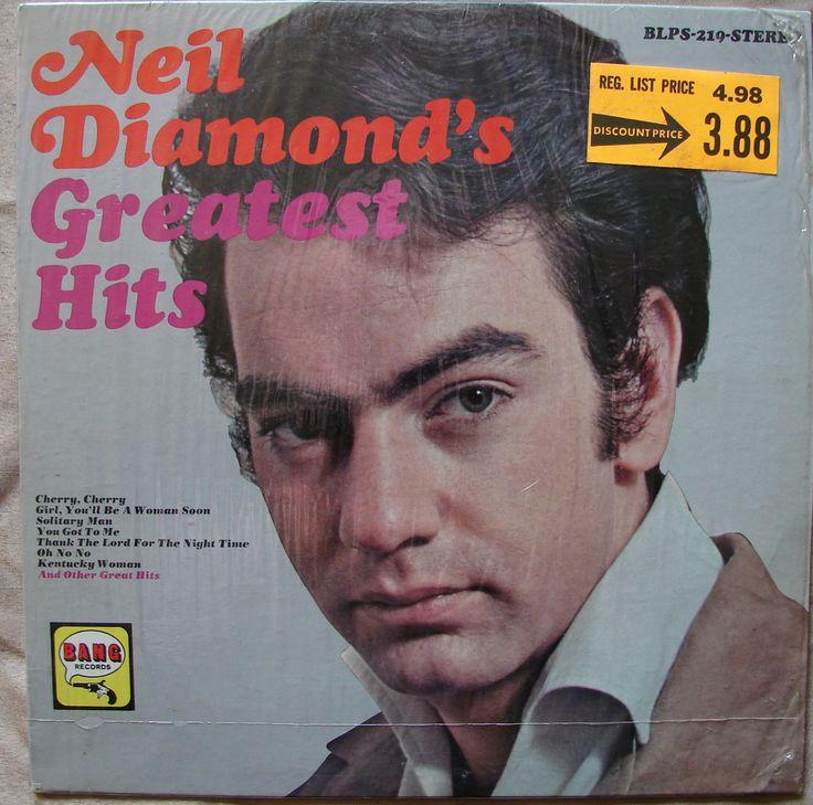 Neil diamond greatest hits my lp collection pinterest