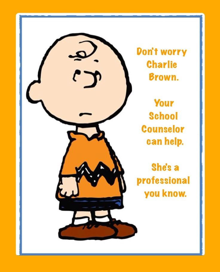 Charlie says be a professional school counselor. http://www ...