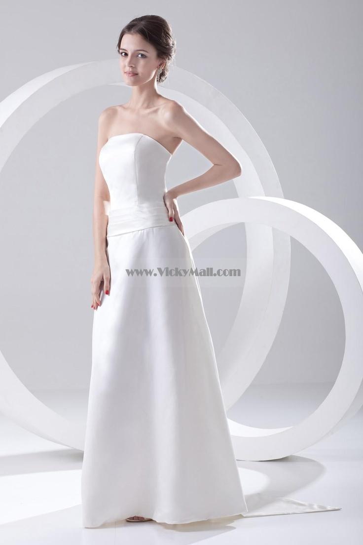 Strapless white wedding dresses wedding dresses pinterest for Pinterest dresses for wedding