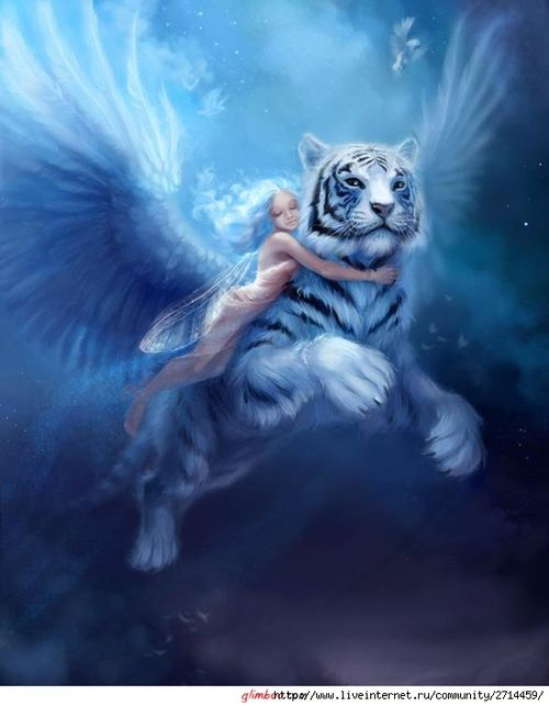 Fantasy white tiger - photo#7