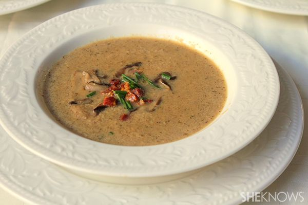 Wild mushroom soup - dairy free recipe full of flavor and pancetta!