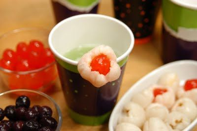 ... Punch Recipe with Dry Ice | Blueberry in lychee/longan for eyeballs