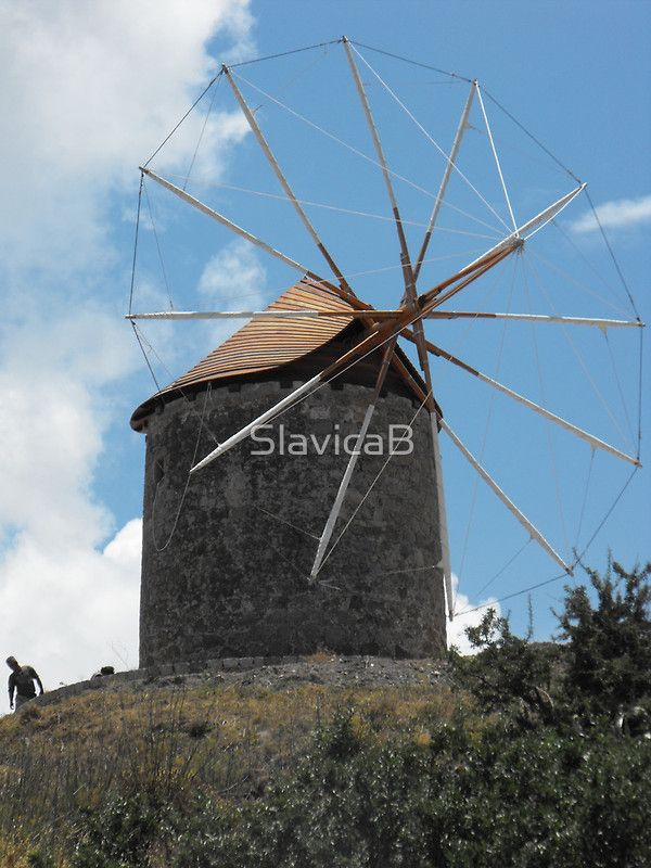 Greek Island Windmill 2 | Prints for sale | Pinterest
