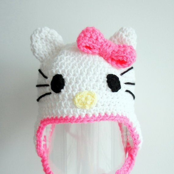 Amys Crochet Creative Creations: Crochet Hello Kitty hat