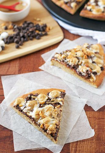 Peanut Butter Cup Dessert Pizza Recipe — Dishmaps