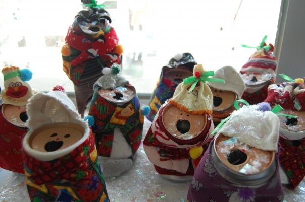 christmas craft pop can carolers christmas crafts