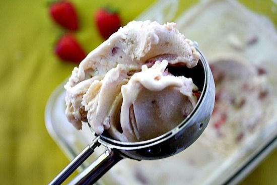 Ice Cream. Balsamic roasted strawberries give this homemade ice cream ...
